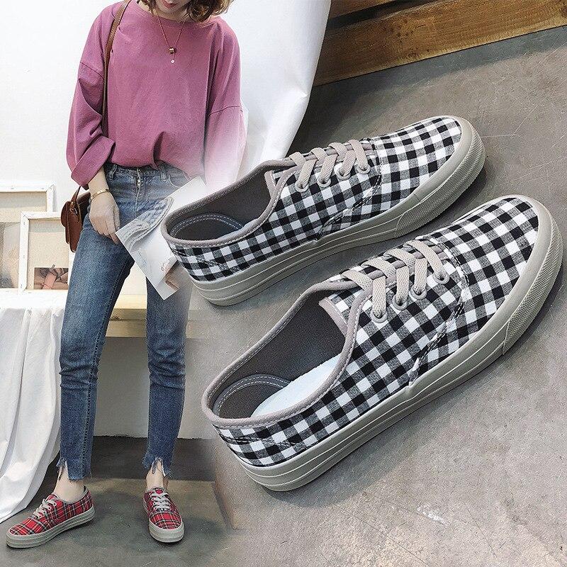 ECTIC 2018 Women vulcanized shoes breath