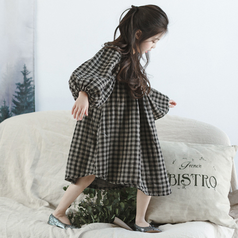 New Girls 2018 Spring Dress Kids Cotton Dress Children Loose Dress Girls' Comfortable Clothes Toddler Casual Dress,2-14Y,#2264 2018 new baby spring dress brand girls plaid dress fashion children dress toddler cotton dress parent child clothes 2636