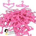 Factory offer 10pcs/ quality pink color plastic heart shape hangers For Barbie doll (Also suit for 1/6 BJD doll)