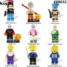 KF8032 Egyszeri eladó Dragon Ball Z ábra Buliding blokkok Jiren Vegeta SSj3 Majin Buu Tien Shin Han téglák gyerekeknek Játékok Ajándék