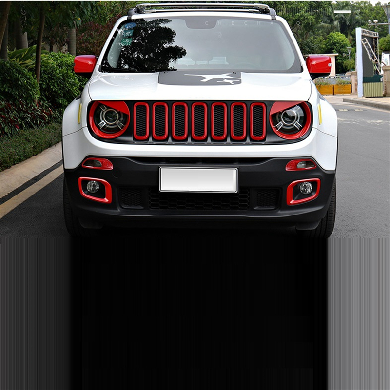 Grille Wing Mirror automobile modified car styling decoration modification accessories accessory 17 FOR JEEP Renegade automobile car styling accessories chromium 2014 17 modified bumper grille trim strip grid decorative bright for toyota vios