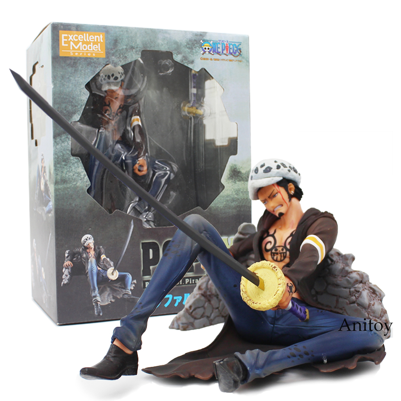 Anime One Piece P.O.P Trafalgar Law Excellent Model Limited PVC Figure Collectible Model Toy 10cm anime one piece dracula mihawk model garage kit pvc action figure classic collection toy doll