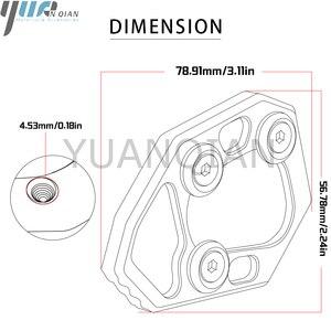 Image 5 - Dla S1000RR 10 14 aluminiowy cnc do motocykla korzystając z łączy z boku trzymać stojak płyta powiększ rozszerzenie dla BMW S1000RR S 2010 2011 2012 2013 2014