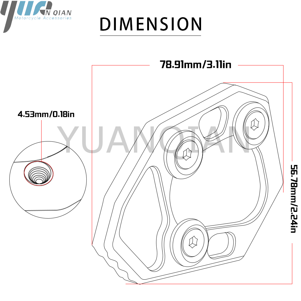Image 5 - For S1000RR 10 14 Motorcycle CNC Aluminum Side Stick Stand Plate Enlarge Extension For BMW S1000RR S 2010 2011 2012 2013 2014-in Stands from Automobiles & Motorcycles