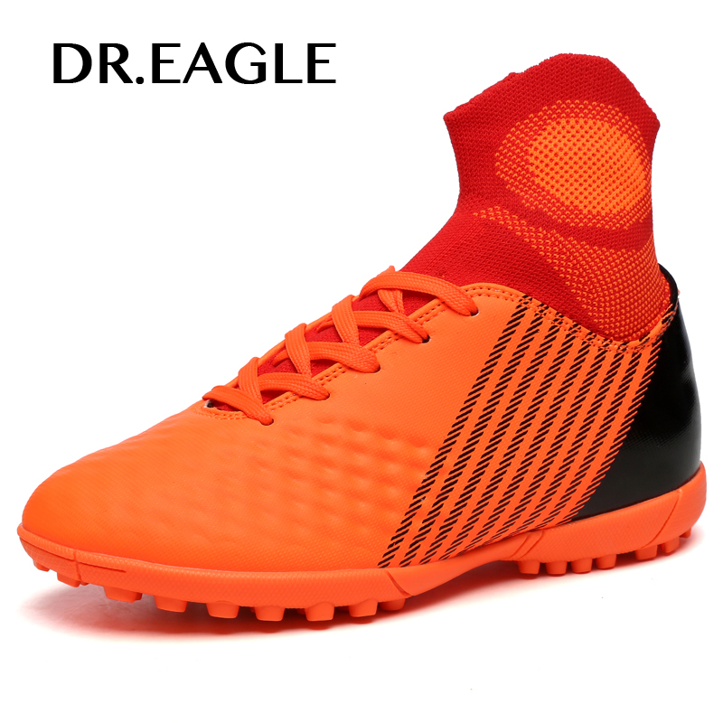 DR.EAGLE kids child high ankle crampon original football boots shoes boots for man the soccer indoor shoes shoe boy futzalki