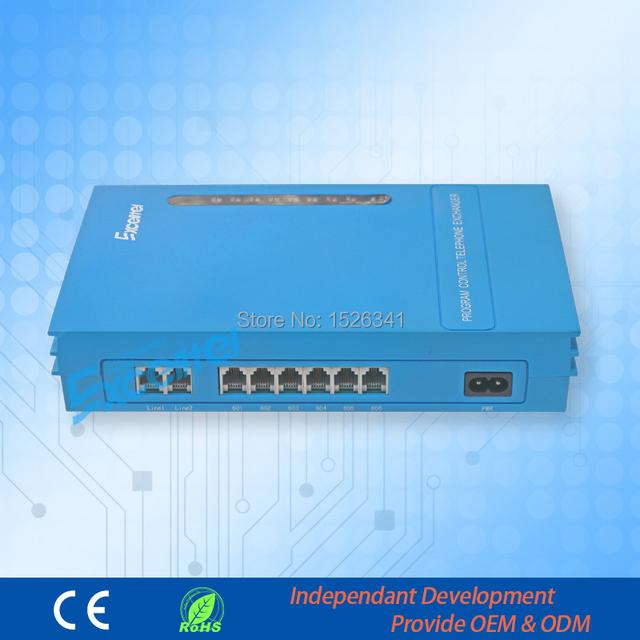 Excelltel/PABX/PBX SOH/Oficina PBX/MS206/2 línea PSTN 6 extensión/con transferencia ID de llamada