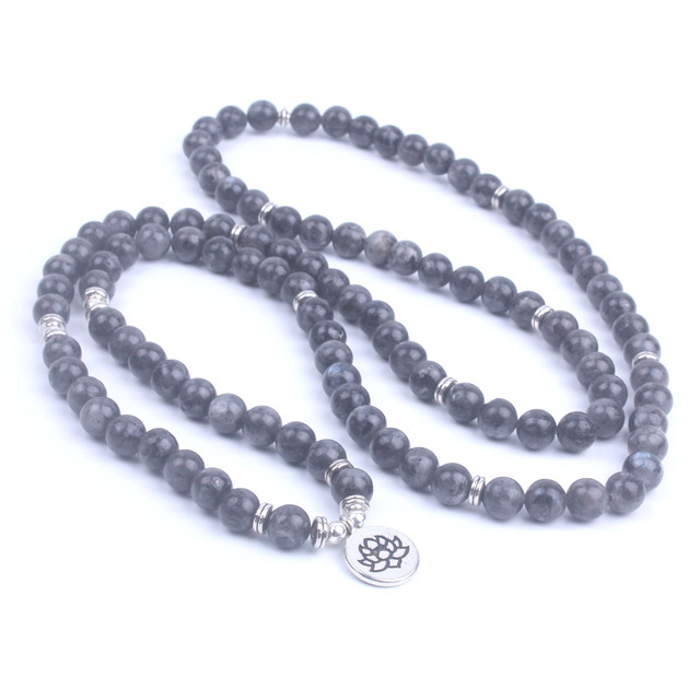 108 Mala Labradorite Lotus Bracelet 4