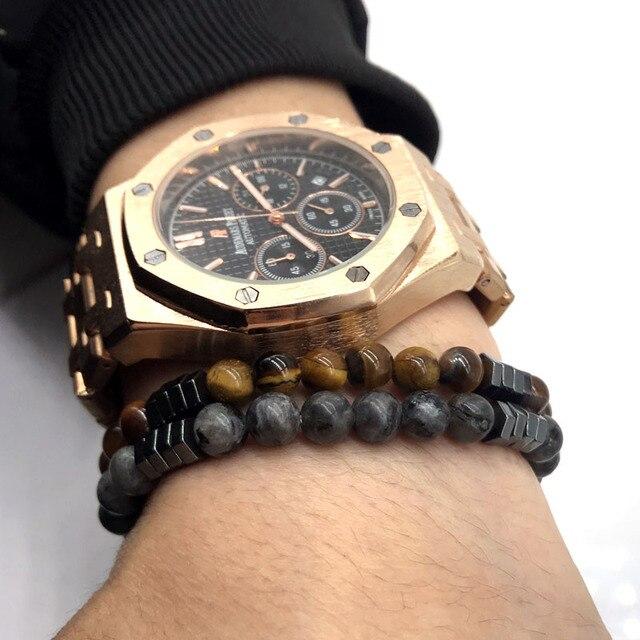 Classic Geometric Stone Bracelets5
