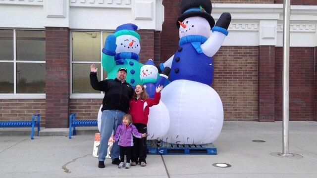 X139 снеговик рождество надувные, надувные снеговики/массивные надувной снеговик семьи для Новогоднее украшение для 3 единиц