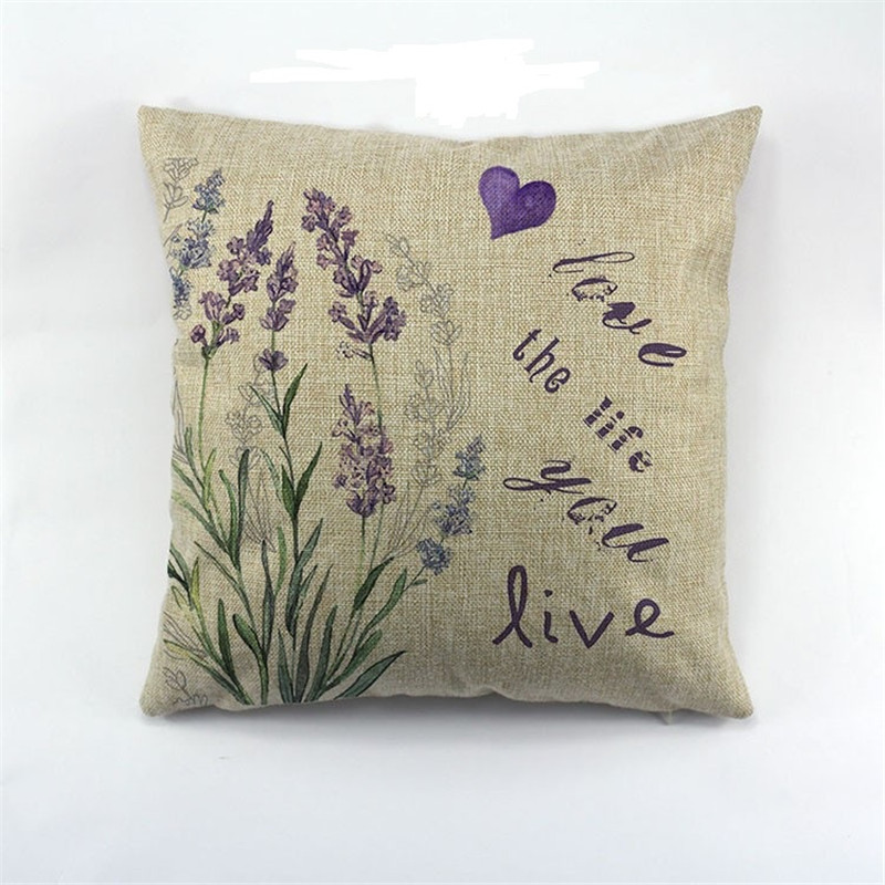 Beauty Lavender Purple Flower Pattern Wholesale Wedding Gift Cushion Cover  Home Sofa Party Pillow Case Decorative Pillow Cover