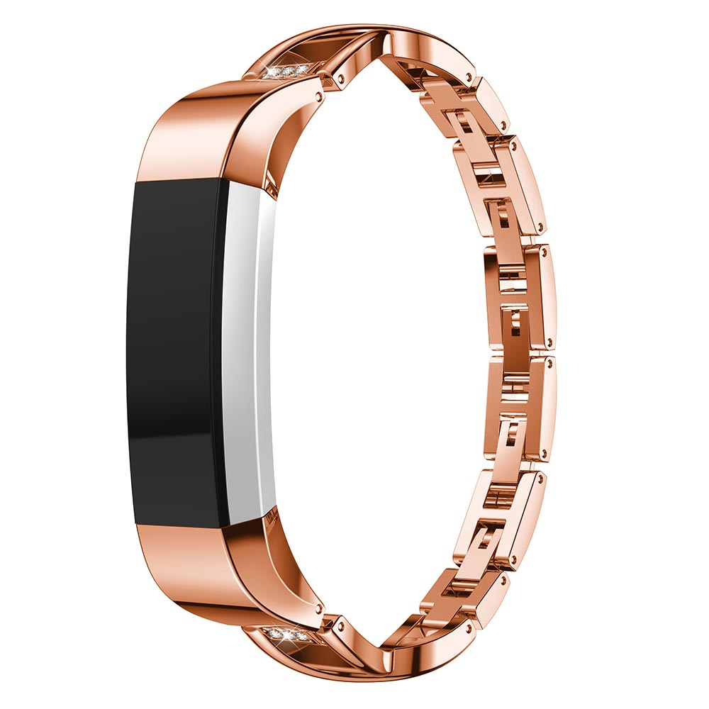 Alloy steel Rhinestone bling High Quality Replacement Wristband Band Strap Bracelet For Fitbit Alta For Fitbit Alta HR WatchBand in Watchbands from Watches