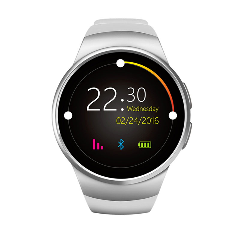 ФОТО Original KW18 Full Round IPS Heart Rate Smart Watch MTK2502 BT4.0 Smartwatch for ios and Android Intelligent Watch pk h88 DZ09
