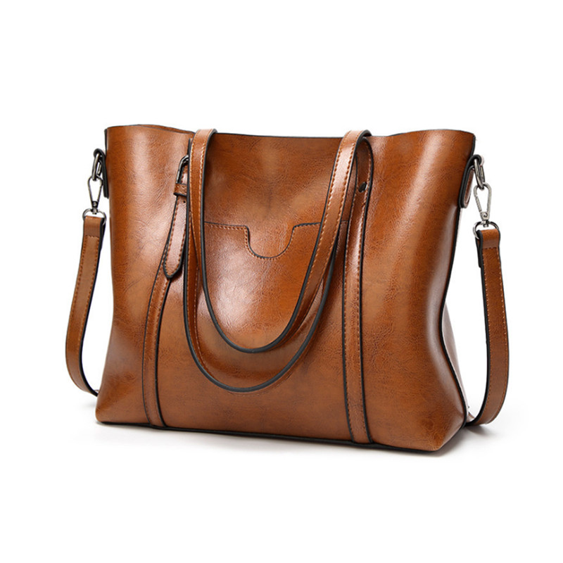 Women bag Oil Wax Women's Leather Handbags Luxury Lady Hand Bags with Purse Pocket Women Shoulder Bag Big Tote Sac Bolsos Mujer women bag oil wax women s leather handbags luxury lady hand bags with purse pocket women messenger bag big tote sac bolsos mujer