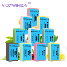 VICKYWINSON 100% Natural herbal rose essential oil whitening skin lightening soap Rose Handmade 50
