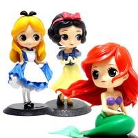 1PCS princess furnishing articles Alice mermaid princess Snow White Princess children's toys dolls hand model ornaments gift