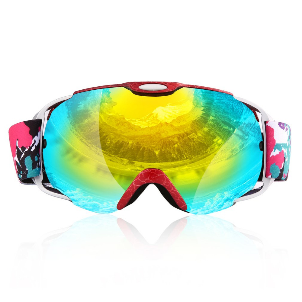 Adults Double Lens Ski Goggles Anti-fog UV400 for Outdoor Sp