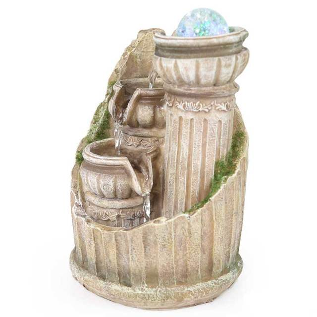 Feng shui-fontaine à eau décoration   Art moderne, petit paysage en pot, résine créative maison S