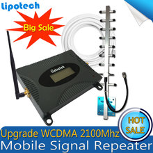 Lintratek (LTE Band 1) 2100 UMTS Cep Telefonu Sinyal Booster 3G WCDMA 2100 MHz Moblie 4G Anten Sinyal Tekrarlayıcı Amplifikatör Ile Set