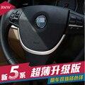 Chrome lentejuelas Volante Ajuste de La Cubierta Car Styling para BMW 5/7 Series 520LI 525LI GT Lentejuelas Decoración de Interiores Accesorios