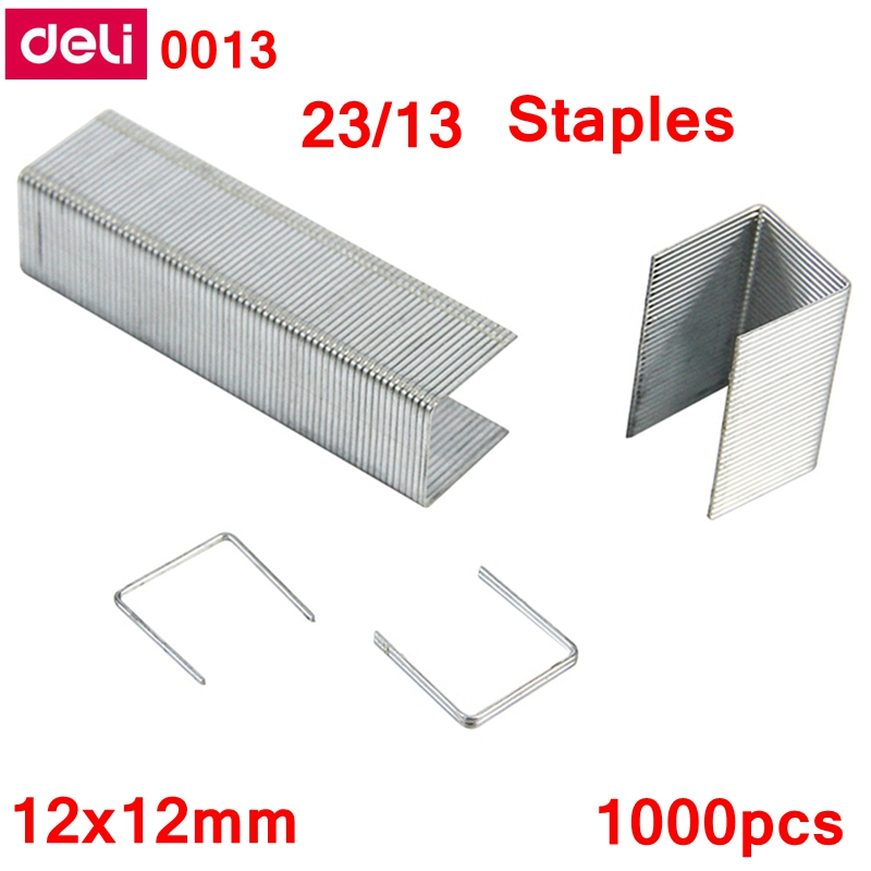 1000PCS/LOT Deli 0013 Heavy Duty Staples 23/13 Staples 12x12 Mm Staples Capacity 100 Pages 70g Papers