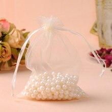 100 pçs/lote 13x18cm bege organza jóias presente sacos saco de organza saquinhos de tule bolsas de organza embalagens para doces