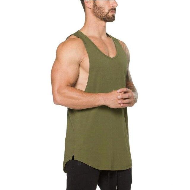 Brand gyms clothing Brand singlet canotte bodybuilding stringer tank top men fitness shirt muscle guys sleeveless vest Tanktop 4