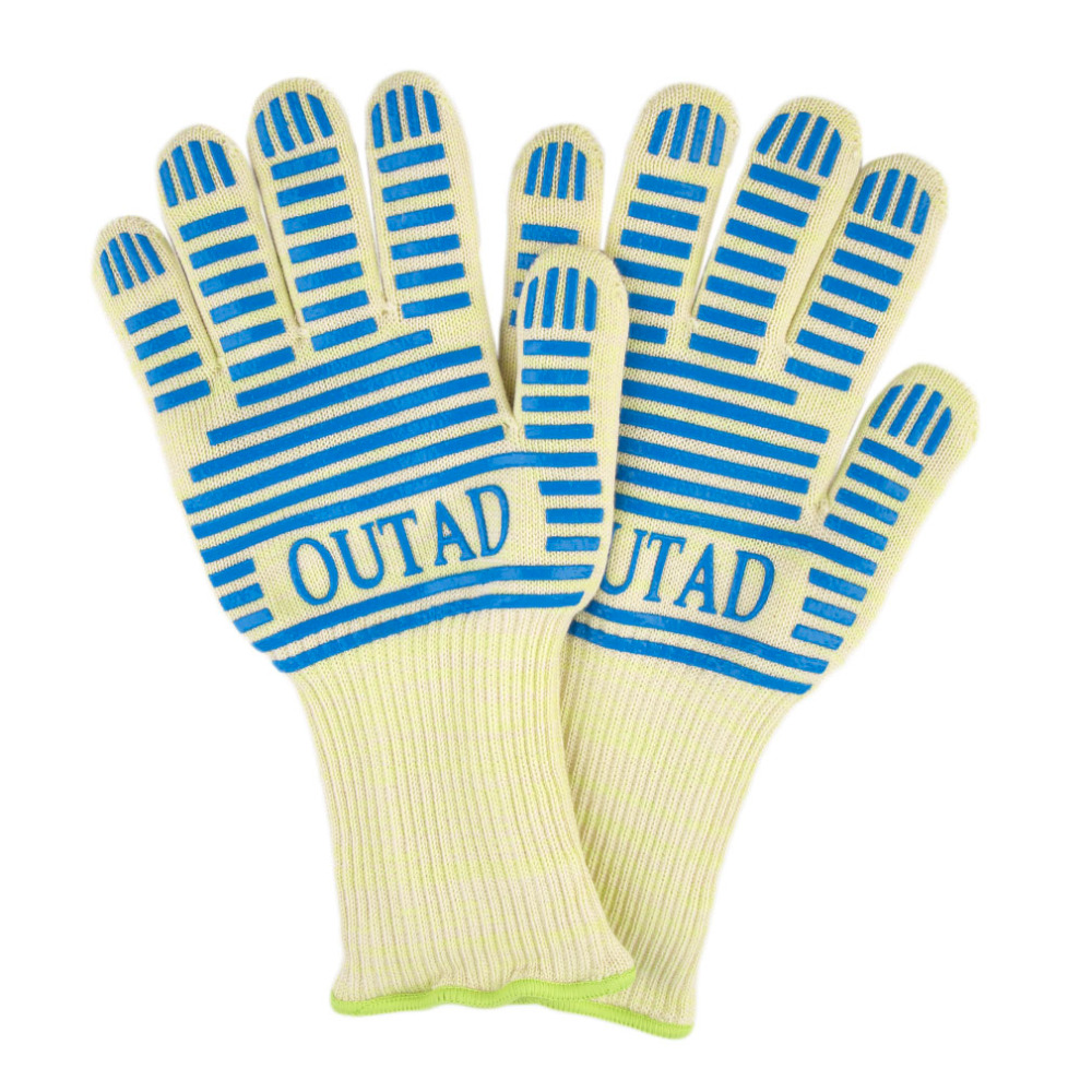 2017 Hot OUTAD Heat Resistant Cut Resistant Welding Working Safety font b Gloves b font for