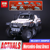 2017 New LEPIN 23011 2959 Pcs Technic Series Off Road Vehicle Model Building Kits Block Educational