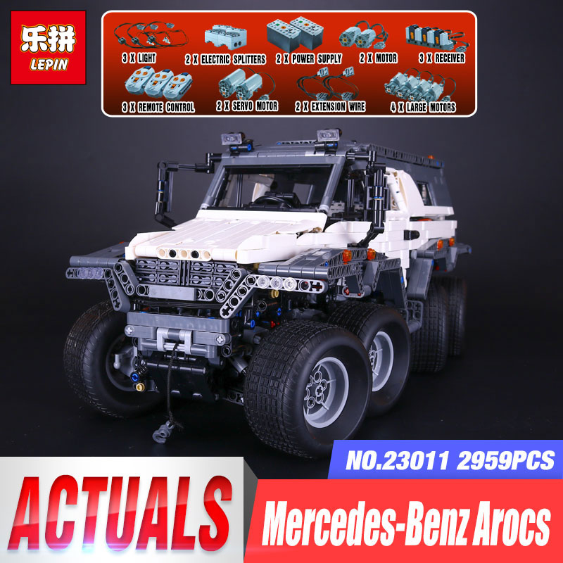 New LEPIN 23011 2959 pcs Technic Series Off-road Vehicle Model Building Kits Block Educational Bricks Christma Toys legoing Gift new lp2k series contactor lp2k06015 lp2k06015md lp2 k06015md 220v dc