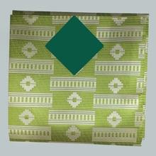 newest african gele headtie wedding gele&Ipel,African Aso Oke Headtie green LXLAS-3-12