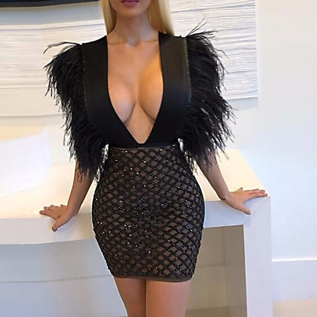 Sexy v neck dress