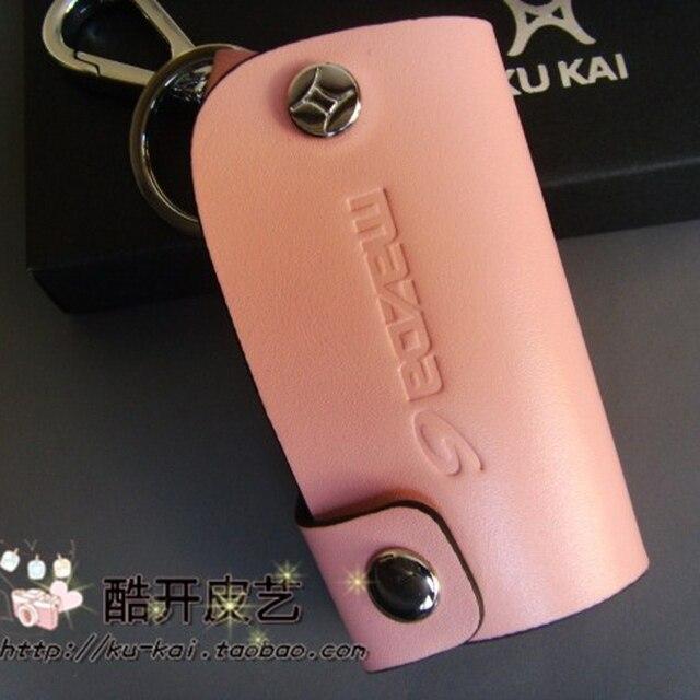 Брелоки Для Mazda 6 Натуральная Кожа Розовый Бесплатная Доставка