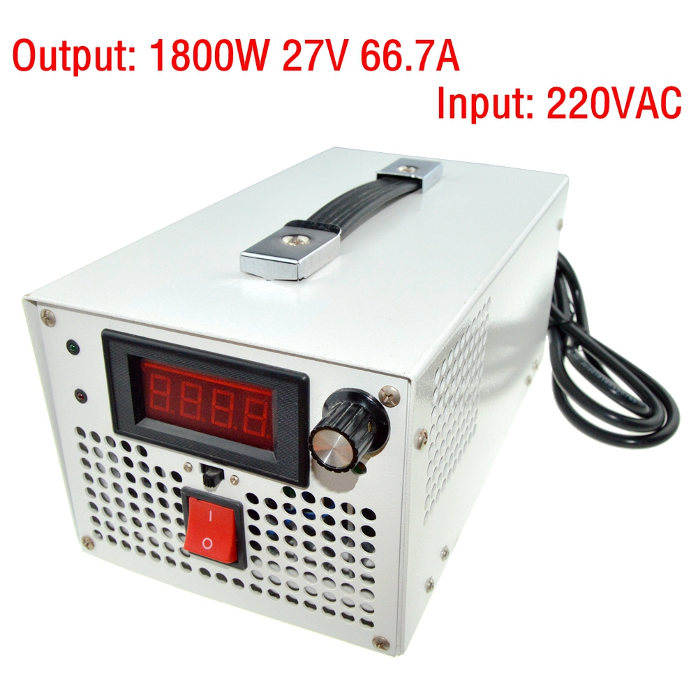 LED Driver AC Input 220V to DC 1800W 0~27V 66.7A adjustable output Switching power supply Transformer for LED Strip light 1200w 12v 100a adjustable 220v input single output switching power supply for led strip light ac to dc