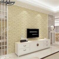 Beibehang الحديثة الصينية نوم خلفيات بسيطة الأرجواني النقي الغزال غير المنسوجة للجدران غرفة المعيشة التلفزيون خلفيات papel دي parede