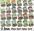 AAA+ Quality!!!(Pick color)24 COLORS 135yards x 0.8mm Nylon Chinese Knot Cord Rattail Satin Jewelry Beading Thread AA(W03222)