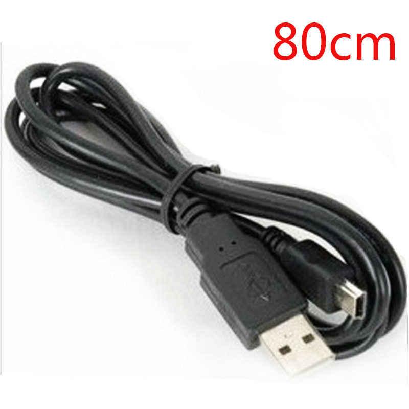 كابل شحن سلك مهايئ بيانات USB 2.0 ذكر إلى مصغر 5 دبوس B أفضل أسود طول 80/100 سم كابلات بيانات تمديدات كابلات USB