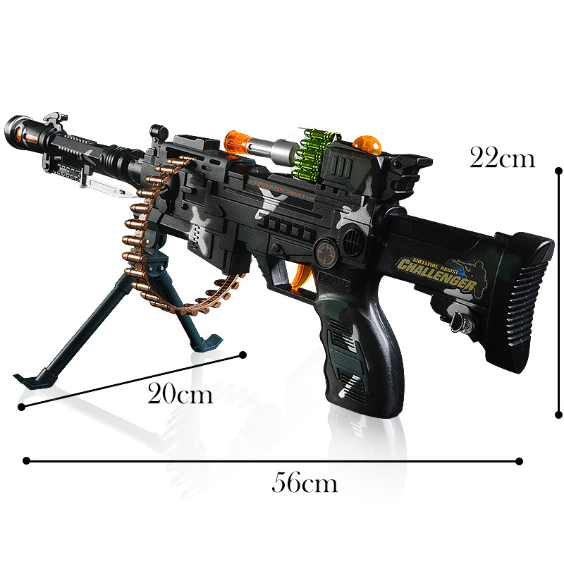 New toy children's military guns sound submachine gun flash