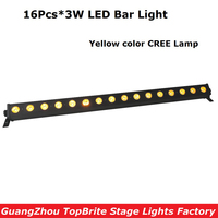 Led Wall Washer Light 16X3W Yellow Color Led Wall Wash Light Running Funtion DMX Bar For Disco Party Show Effect Stage Projector