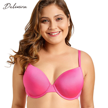 Delimira Women's New PLus Size Full Coverage Underwire T-Shirt Bra