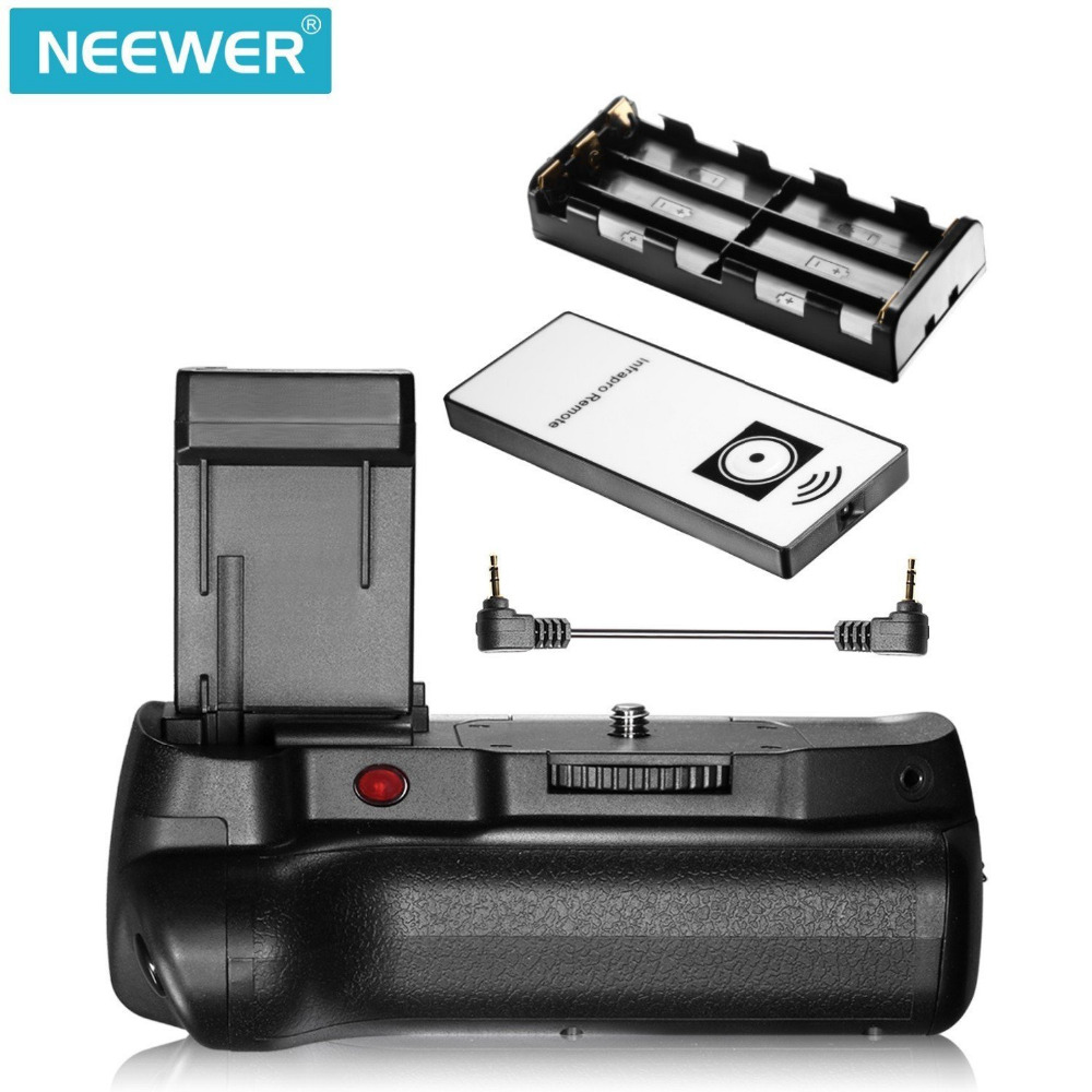 цена на Neewer IR Control Vertical Battery Grip Work with LP-E10 Battery for Canon 1100D 1200D 1300D/Rebel T3 T5 T6 SLR Digital Camera