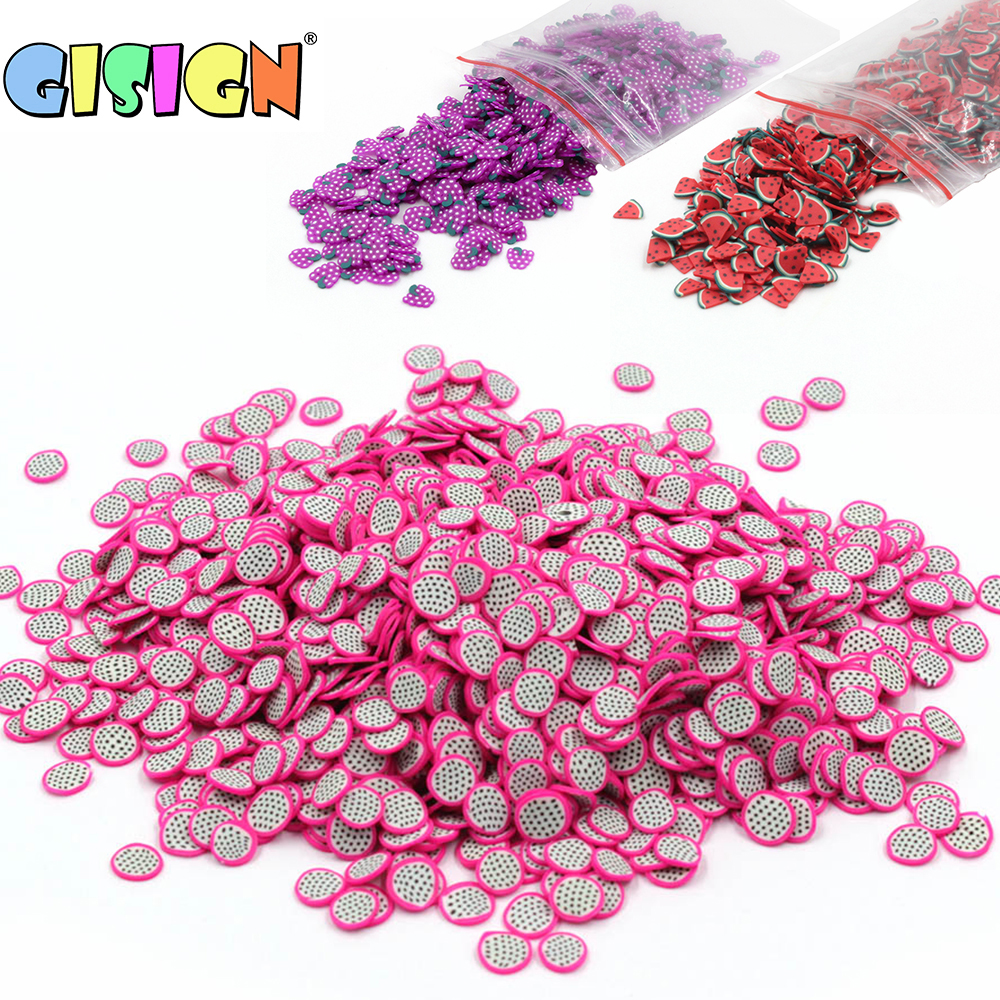 All Fruit Fimos Bead Charms Addition For Slime Accessories Fluffy Decoration In Slime Clound Sand Toys Filler Glitter Clear Set