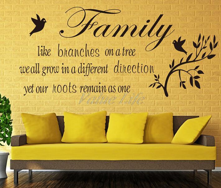 "family like "" removable pvc wall sticker,26x 57cm cute decro,shelf"