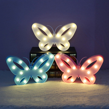 Novelty 3D cute Childrens LED Table Lamp Children Night Light Butterfly Decoration kids wall night light