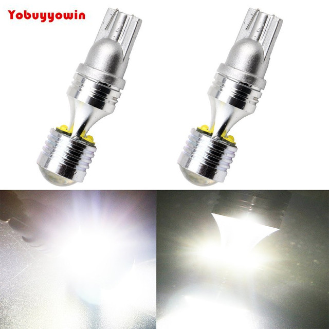 Super Bright White T10 W5w Cree Led Chips 6 Smd Led Lights Bulb For
