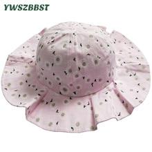 Summer Baby Sun Hat Fashion Flower Girl Cotton Kids Cap Child Caps