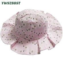Summer Baby Sun Hat Fashion Flower Baby Girl Hat Girl Sun Hat Cotton Kids Cap Child Caps