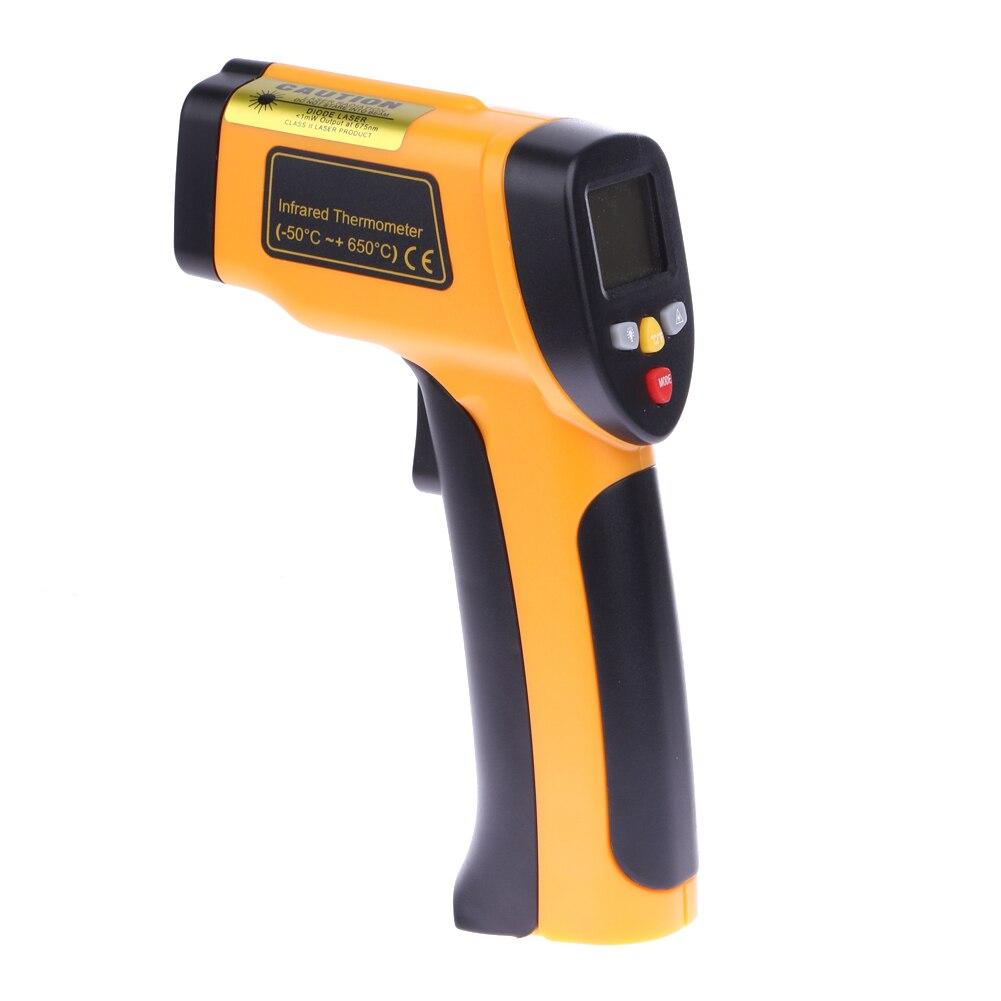 LCD digitale Termometro A Infrarossi Senza contatto Professionale Manico Themperature Pirometro IR Tester di Temperatura Laser Gun-50 ~ 650C