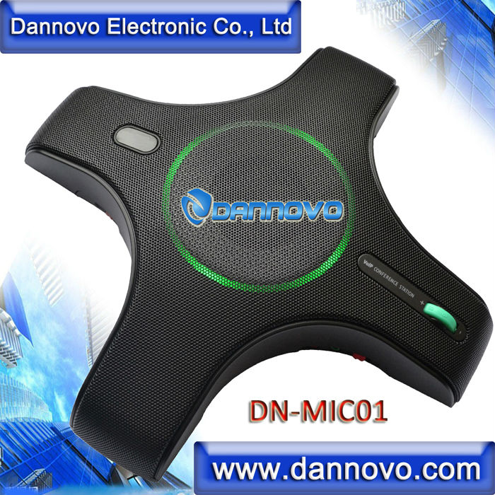 DANNOVO USB Omnidirectional Microphone 360 degree Pickup,Built-in Speaker, Plug and Play,for Windows,MAC,Skype,Lync,MSN