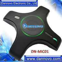 Oferta DANNOVO USB micrófono omnidireccional 360 grados camioneta altavoz incorporado macho y jugar para Windows MAC Skype Lync MSN