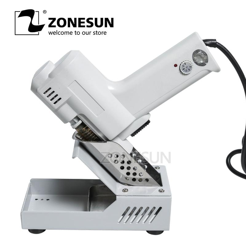 ZONESUN 110/220V Electric Vacuum Desoldering Pump Solder Sucker Gun 220V 100W De solder Gun Absorb Tin Gun Welding Tool Kits